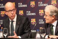 Jordi Cardoner y Ramon Alfonseda, en la presentaci�n del FCB Legends