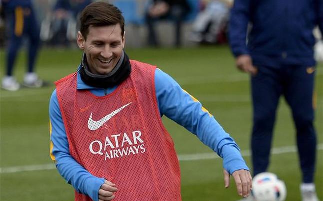 El ca�o de Messi a Mascherano que desat� las carcajadas de Leo y Su�rez