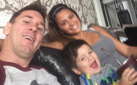 Messi, con su familia