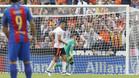 Munir no celebra su gol al Barcelona