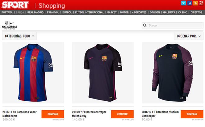 En nuestra tienda podr�s comprar la nueva camiseta del FC Barcelona