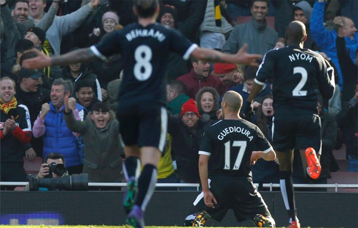 El Arsenal de Wenger se hunde a tres d�as de medirse al Bar�a