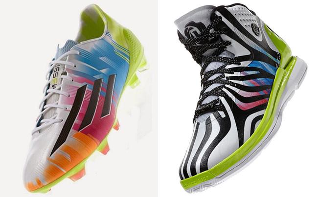 Los botines adidas multicolor de Messi tienen también su modelo como zapatillas de la NBA