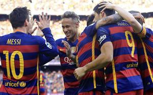 El tridente volvió a ser decisivo para lograr la victoria ante el Atlético
