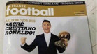 Así es la portada de France Football con Cristiano Ronaldo y el Balón de Oro 2016