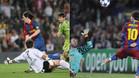 Dos genialidades de Messi, cara a cara