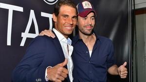 Rafa Nadal y Enrique Iglesias, en la inauguración del restaurante Tatel Miami