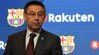 Josep Maria Bartomeu, presidente del FC Barcelona, en una imagen del día que presentó el nuevo patrocinador de la camiseta del primer equipo
