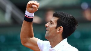 Novak Djokovic celebra su pase a segunda ronda