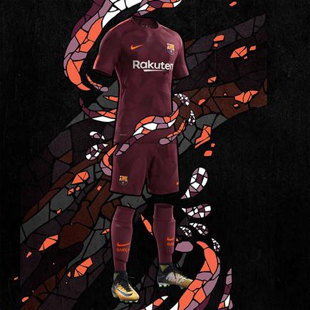 El tercer uniforme del FC Barcelona 2017/18