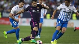 El Barcelona no pudo pasar del empate sin goles en la visita del Málaga la pasada temporada