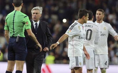 "Ancelotti: ""Fue un arbitraje normal"""