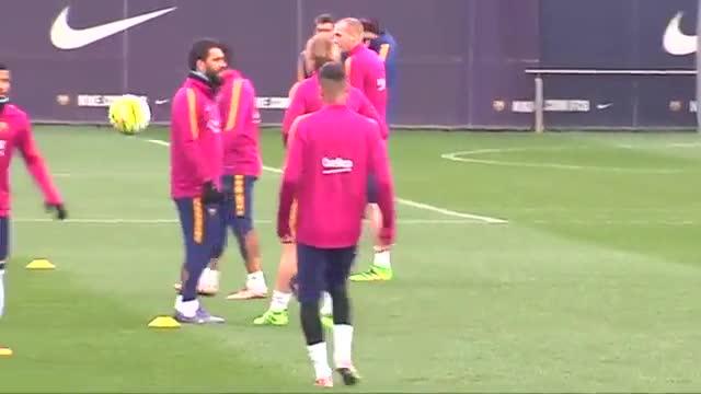 Así fue el entrenamiento del Barça previo al partido ante el Villarreal