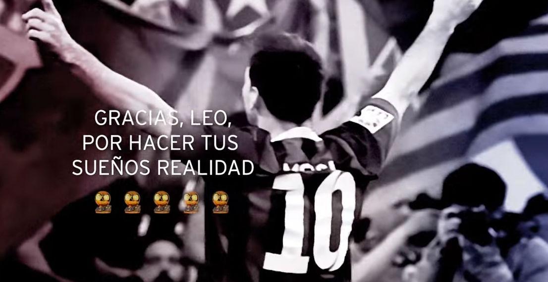 El homenaje del FC Barcelona a Leo Messi