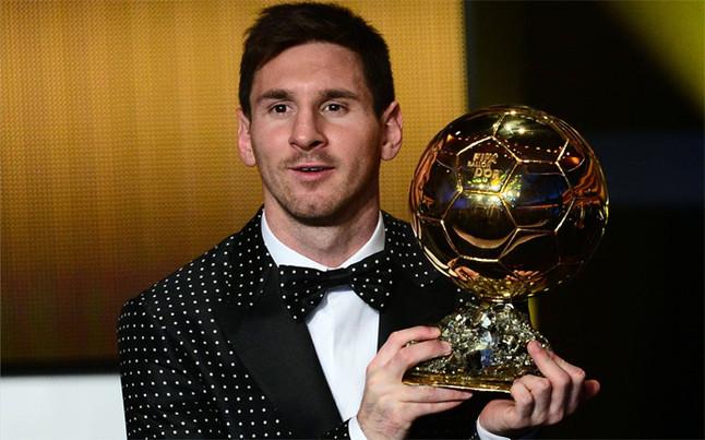 Leo Messi, Bal�n de Oro 2012