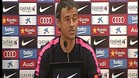 Luis Enrique atendió a los medios en la previa del Real Madrid-Barça
