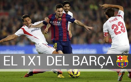 Messi, protagonista en el 1x1 del Bar�a-Sevilla