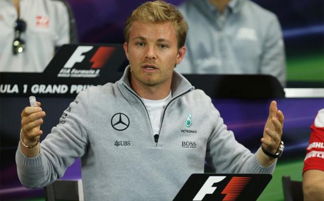 Rosberg, durante la rueda de prensa en M�naco
