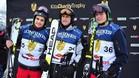 Sainz, Tost y Verstappen en el podio d la Kitz Charity Race