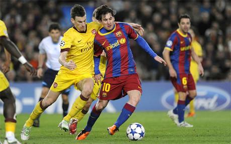 La �ltima vez que Bar�a y Arsenal se enfrentaron el Champions League fue en el 2011