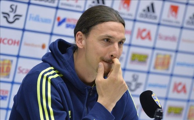 Zlatan Ibrahimovic durante una rueda de prensa.