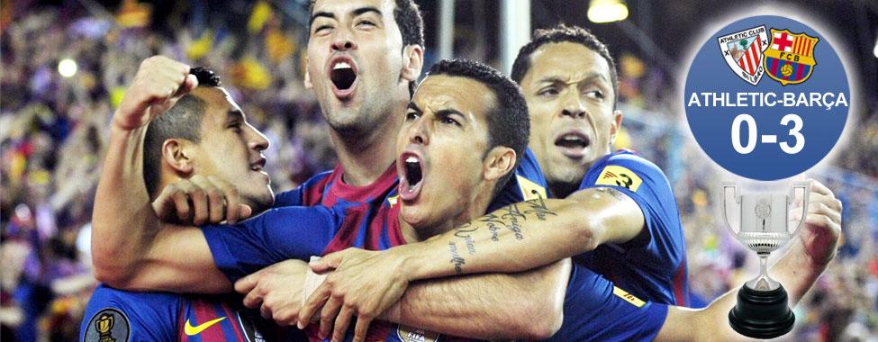 El Barça homenajea a Pep brindándole la última Copa