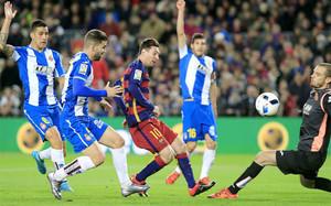 Así marcó Leo Messi el gol del empate ante el Espanyol