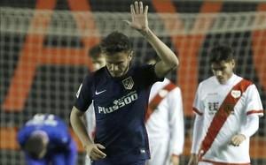 Saúl marcó el 1-1 para el Atlético