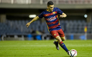 Romera, autor de los dos goles del Barça ante la Pobla Mafumet