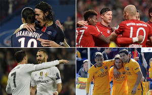 El tridente del Barça es el que más carga de minutos acumula