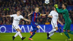 Iniesta and Marco Verratti agreed during the Champions League qualifying