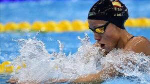 Jessica Vall lo dio todo pero pagó el esfuerzo por seguir el ritmo de cabeza en los últimos 50 metros