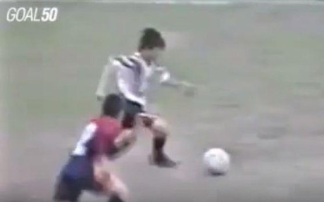 Este es uno de los muchos golazos que marc� Messi