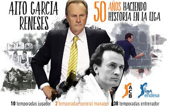La ACB homenajear� a A�to Garc�a Reneses por sus 50 a�os en Liga
