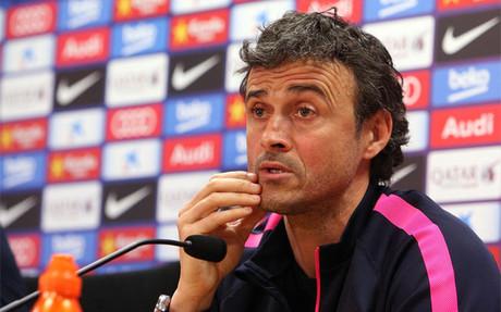 Luis Enrique Mart�nez en la rueda de prensa previa al Bar�a-Depor de la Liga 2014-15