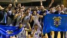 Melilla festej� en la pista el ascenso ACB