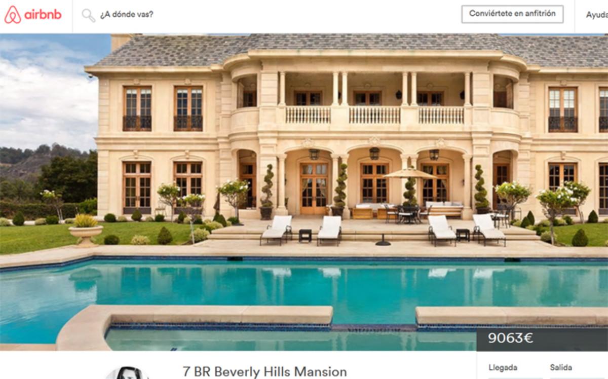 mansi n que ha alquilado neymar junior en los ngeles fuente airbnb