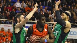 Moussa Diagné aportó ocho puntos ante el Joventut antes de regresar al Barça Lassa