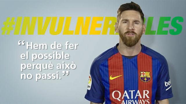 Leo Messi, con los #invulnerables