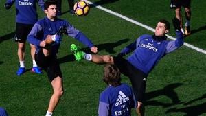 Cristiano Ronaldo ha participado en el entrenamiento