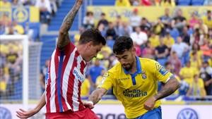 Giménez se lesionó ante la UD Las Palmas