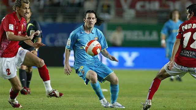 Messi jugó la temporada 2007-08 en Murcia