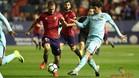 Aleñá suma y sigue; en El Sadar marcó su cuarto gol de la temporada con un buen zurdazo