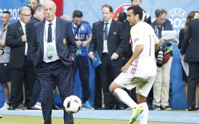 Del Bosque hizo jugar a Pedro en los �ltimos minutos, en sustituci�n del lesionado Aduriz