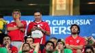 Los aficionados chilenos quedaron abatidos