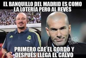 Memes de Benítez y Zidane