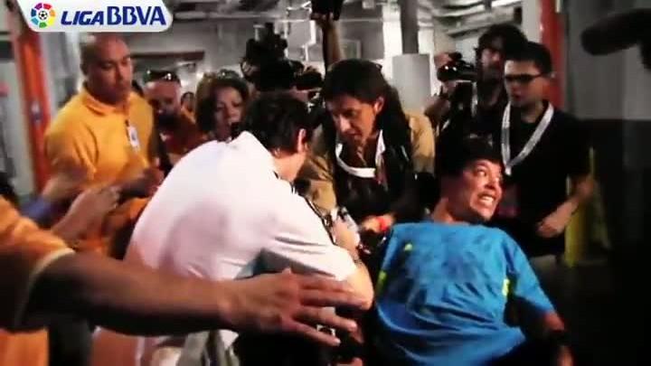Messi tuvo un detalle con un aficionado discapacitado