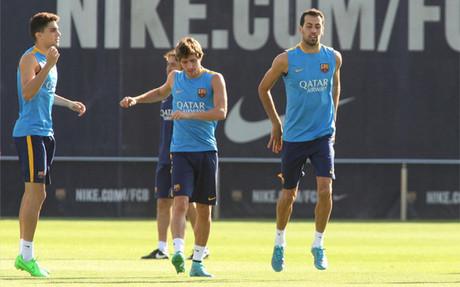 Sergi Roberto no ha entrenado desde el partido contra el M�laga