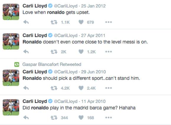 """La ganadora del Mejor Jugadora de la FIFA """"no soporta"""" a Cristiano Ronaldo"""