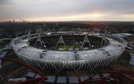 Vista panorámica del estadio olímpico de Londres